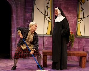 "Lavonne Byers and John Flack in ""The Divine Sister"" at HotCity. Photo: Todd Studios."