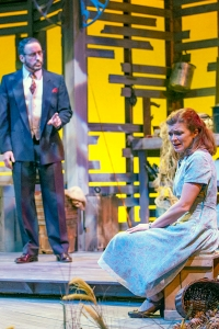 """Shaun Sheley and Meghan Maguire in the New Jewish Theatre production of  Landford Wilson's """"Talley's Folly."""" Photo: John Lamb"""