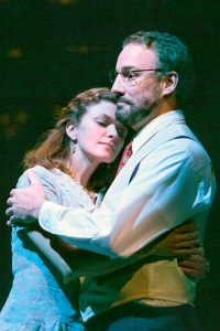 """Meghan Maguire as Sally Talley and Shaun Sheley as Matt Friedman, embrace during a tender moment  in """"Talley's Folly"""" at New Jewish Theatre. Photo: John Lamb"""