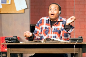 """Greg Fenner is never at a loss for words- his character Sam's and numerous others during  """"Fully Committed"""" at Stray Dog Theatre. Photo: John Lamb"""