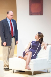"John Pierson and Nancy Bell in STLAS' production of Edward Albee's ""The Goat Or, Who Is Sylvia?"" Photo: John Lamb"