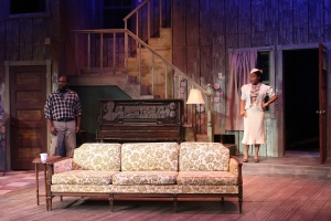"""Ronald L. Conner and Sharisa Whatley confront each other early in the Black Rep's production of August Wilson's """"The Piano Lesson."""" Photo: Stewart Goldstein"""