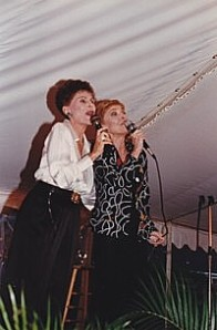 "Roberta Peters and Rita Gardner ""knock 'em dead"" at a benefit for the O'Neill Theatre Center."