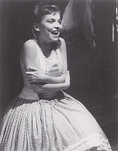 "Rita as Luisa in ""The Fantasticks."" This photo was on the end table of her New York apartment in the Rep's ""4000 Miles."""