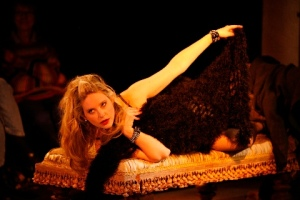 """Sarah Nedwek poses as """"Venus In Fur"""" for the Rep Studio Production. Photo courtesy of the Repertory Theatre of St. Louis"""