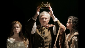 "Betsy Bowman, Robert Ashton and Maggie Murphy in ""As You Like It"" at St. Louis Shakespeare."