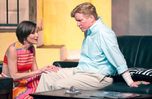 """Tamara Kenny pleads with Steve Isom for a little attention during STLAS's production of """"Day Of The Dog."""" Photo: John Lamb"""