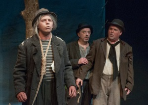 "Aaron Orion Baker, Terry Meddows and Gary Wayne Barker in STLAS' production of ""Waiting For Godot."""