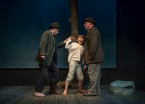 "Terry Meddows, Hayden Benbenek and Gary Wayne Barker in ""Waiting For Godot"" at STLAS."