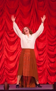 "Deborah Sharn, as Mama Rose, takes center stage for ""Rose's Turn"" at the conclusion of ""Gypsy"" at Stray Dog Theatre. Photo: John Lamb"