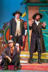 "Antonio Rodriguez, Terry Meddows and Todd Schaefer in ""Shlemiel The First"" at New Jewish Theatre."