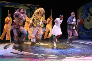 "The Scarecrow, Lion, Dorothy and the Tinman ""Ease On Down The Road"" in the Black Rep production of ""The Wiz."" Photo: Stewart Goldstein"