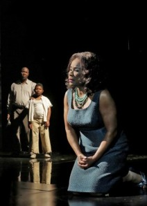 "Arthur Woodley, Jordan Jones and Denyce Graves in ""Champion."" Photo: Ken Howard"