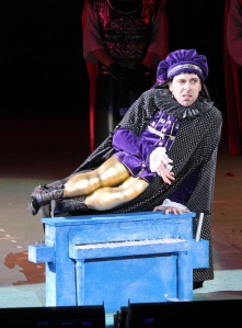"Rob McClure as Farquaad in ""Shrek"" at the Muny."