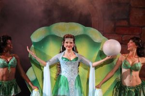 "Michele Ragusa as the Lady of the Lake in the Muny's ""Spamalot."" Photo: Larry Pry"