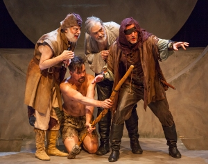 "Bobby Miller, Justin Ivan Brown, John Contini and Rusty Gunther is STLAS' production of ""King Lear."" Photo: John Lamb"