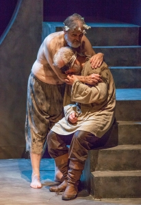 """King Lear"" at STLAS with John Contini in the title role and William Roth as the Earl of Gloucester. Photo: John Lamb"