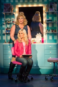 """Heather Jane Rolff as Paulette sings to Michelle London as Elle about her dreams of """"Ireland"""" at Stages-St. Louis production of """"Legally Blonde."""""""