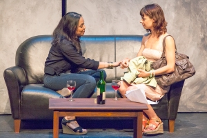 "Wendy Greenwood and Rachel Fenton discuss ""boyfriends"" in Neil LaBute's ""The Possible."" Photo: John Lamb"