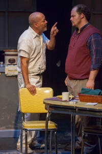 "Robert A. Mitchell and Zachary Allen Farmer in Theatre Lab's ""The Sunset Limited."" Photo: John Lamb"