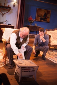"Bill Grivna and Paul Cereghino trade barbs in ""Entertaining Mr. Sloane"" at HotCity Theatre. Photo: John Lamb"