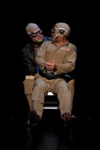 "The pilots get their first flight experience in one of the cleverest moments in ""Fly"" at the  Rep. Photo: Jerry Naunheim, Jr."