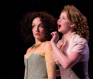 "Maggie Conroy as Adriana and Julia Crump as Luciana in ""The Comedy Of Errors"" at St. Louis Shakespeare."