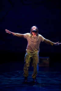 "Omar Edwards as the Tap Griot in the Rep's production of ""Fly."" Photo: Jerry Naunheim, Jr."