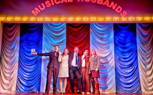"""The cast of the London revival of """"Merrily We Roll Along"""" perform """"It's A Hit."""""""