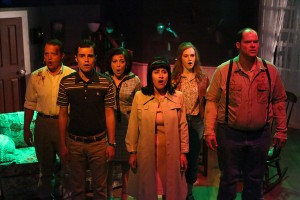 """The cast of """"Night Of The Living Dead"""" question their fates. Photo: Jill Ritter Lindberg"""