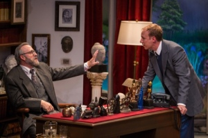 "Barry Mulholland as Dr. Freud and Jim Butz as C. S. Lewis in the Rep Studio production of ""Freud's Last Session."" Photo courtesy of the Repertory Theatre of St. Louis"