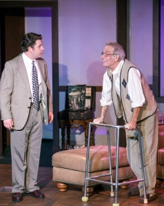 "Aaron Orion Baker and Bobby Miller in the Dramatic License Production of ""Tuesdays With Morrie."" Photo: John Lamb"