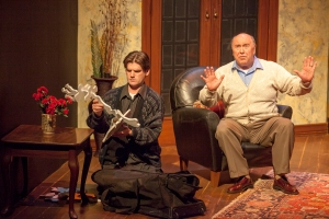 "Nathan Bush as Todd and Whit Reichert as Arthur in ""Pterodactyls"" at STLAS. Photo: John Lamb"