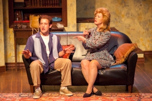 """James Slover as Tom and Penny Kols as Grace in the STLAS production of """"Pterodactyls."""" Photo: John Lamb"""