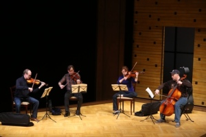 "The quartet rehearses in ""Opus"" at the Repertory Theatre of St. Louis. Photo: Jerry Naunheim, Jr."