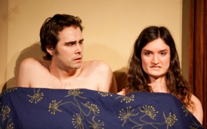 "Michael Amoroso and Alyssa Ward contemplate what they've just done in ""Sharp Corner"" at the ""Briefs"" Festival."