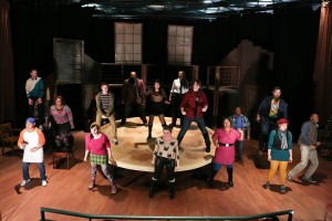 "The cast of ""Rent"" at New Line Theatre. Photo: Jill Ritter Lindberg"