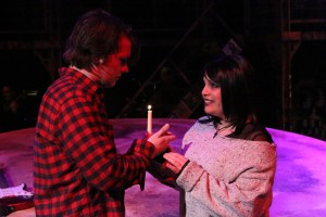 "Evan Fornachon as Roger and Anna Skidis as Mimi in New Line's ""Rent.""  Photo: Jill Ritter Lindberg"