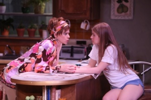 "Mhari Sandoval and Emma Wisniewski in ""Soups, Stews and Casseroles:1976"" at the Rep Studio. Photo provided by the Rep"