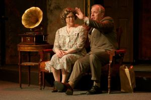 "Jan Niehoff and Ken Haller as Fraulein Schneider and Herr Schultz in ""Cabaret"" at Stray Dog Theatre. Photo: John Lamb"