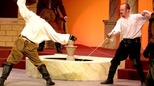 "Roger Erb as Tybalt and Charlie Barron as Mercutio in St. Louis Shakespeare's production of ""Romeo And Juliet."" Photo: Brian Peters"