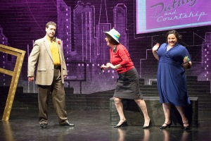 "Craig Neuman, Stellie Siteman and Johanna Elkana-Hale breeze through one of the many bits in ""Old Jews Telling Jokes"" at NJT. Photo: John Lamb"