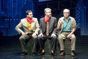 "Craig Neuman, Dave Cooperstein and Bobby Miller in the New Jewish Theatre production of ""Old Jews Telling Jokes."" Photo: John Lamb"