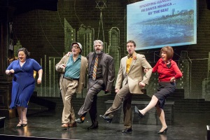 "The cast of ""Old Jews Telling Jokes"" hoofs their way through a musical interlude at New Jewish Theatre. Photo: John Lamb"