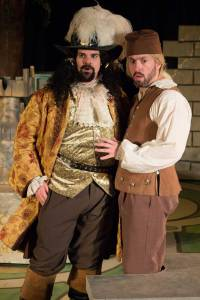 "Jared Sanz Agero instructs Ben Ritchie on the fine art of lying in ""The Liar"" at St. Louis Shakespeare. Photo: Kim Carlson"