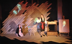 "Rachel Tibbetts and Ellie Schwetye in ""Mary Shelley Monster Show"" at Slightly Askew Theatre Ensemble. Photo: Joey Rumpell"