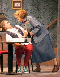 "Amy Loui as Effy and Janet Wells as Hannah in ""The Spitfire Grill"" at Insight Theatre Company. Photo: John Lamb"