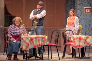 """Janet Wells as Hannah, Troy Turnipseed as Caleb and Jenni Ryan as Shelby at Insight's """"The Spitfire Grill."""" Photo: John Lamb"""