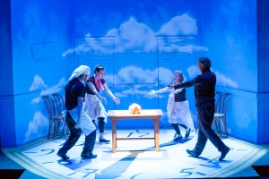 "Our four actors sing the praises of bread in ""All In The Timing"" at St. Louis Actors' Studio. Photo: John Lamb"