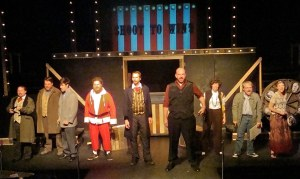 "The eerie line up of assassins and story tellers in November Theater Company's inaugural production of ""Assassins."""